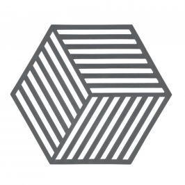 Silikonová podložka pod horké HEXAGON šedá - Zone (HEXAGON podložka pod hrnec šedá - Zone)
