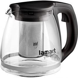 Lamart Konvice na čaj Verre černá 1,1 l LT7025