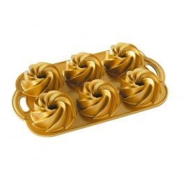Nordic Ware Forma na 6 malých bábovek zlatá 6 x 160 ml