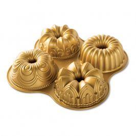 Nordic Ware Forma na 4 bábovky Bundt Quartet zlatá 4 x 530 ml