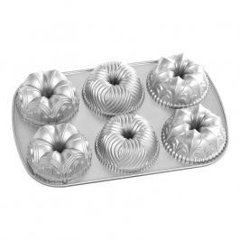 Nordic Ware Forma na 6 malých bábovek Garland  stříbrná 6 x 240 ml