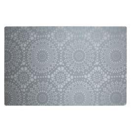 KJ Collection Prostírání s květinovým vzorem šedá 44 x 28,5 cm