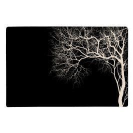 KJ Collection Prostírání se stromem černá 44 x 28,5 cm