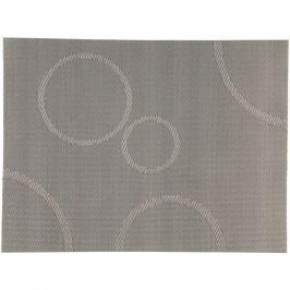 Zone Prostírání s kruhy stříbrná 40 x 30 cm