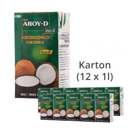 Aroy-D Kokosové mléko 1 karton (12 x 1l)