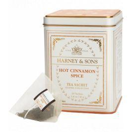 Harney & Sons Hot Cinnamon Spice Classic černý skořicový čaj 20 sáčků v plechové krabičce