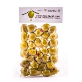 Zelené olivy s paprikovou pastou Hermes 150 g