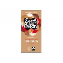 BIO Mléčná čokoláda caffé mocha 37% Seed & Bean 85 g