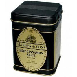 Harney & Sons Hot Cinnamon Spice Sypaný černý skořicový čaj v plechové krabičce 113 g