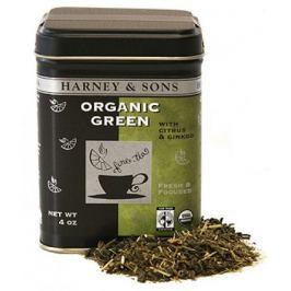 Harney & Sons BIO zelený čaj s citronem a ginkgem sypaný 113 g