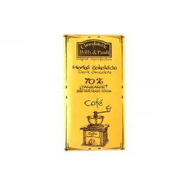 BIO Hořká čokoláda 70% s mletou kávou Tanzánie Willy & Pauli 50 g