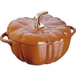 Staub Litinový hrnec ve tvaru dýně s poklicí skořicová 24 cm 3,45 l