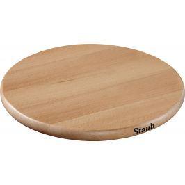 Staub Dřevěná podložka pod hrnce, magnetická, kulatá, 16,5 cm