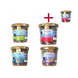Ochutnávkový set terin Le goût du terroir 90 g 3+1 ZDARMA