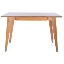Culty Bílý dřevěný pracovní stůl Ariko