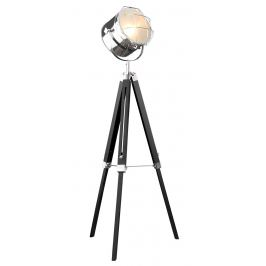Moebel Living Černá kovová stojací lampa California II.