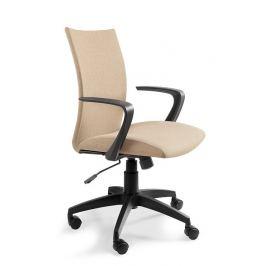 OfficeLab Béžová čalouněná kancelářská židle Alcock