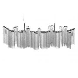 Moebel Living Stříbrné závěsné světlo Elle 118 cm