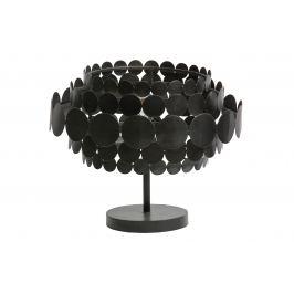 Hoorns Černá kovová stolní lampa Dots