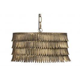 Hoorns Mosazné kovové závěsné světlo Hula 43 cm