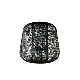 Hoorns Černé pletené bambusové závěsné světlo Bamboo 100 cm