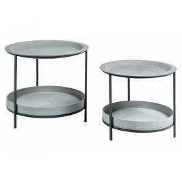 Set odkládacích stolků LaForma Sleet, šedá/černá AA1768RF03 La Forma