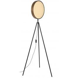 Přírodní ratanová stojací lampa ZUIVER SIEN 141 cm