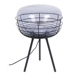 Kouřově modrá skleněná stolní lampa ZUIVER SMOKEY