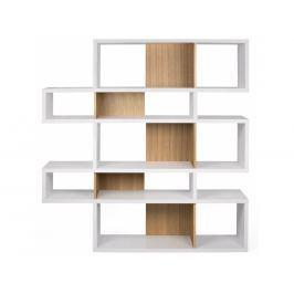 Knihovna Evora II. 160 cm, matná bílá/dub 9500.319709 Porto Deco
