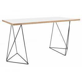Kancelářský stůl Lagos 140 cm, černá podnož, bílá 9500.053214 Porto Deco