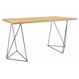 Kancelářský stůl Lagos 140 cm, černá podnož, dub 9500.053221 Porto Deco