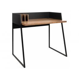 Kancelářský stůl Glaucia, ořechová dýha, černá 9003.052927 Porto Deco