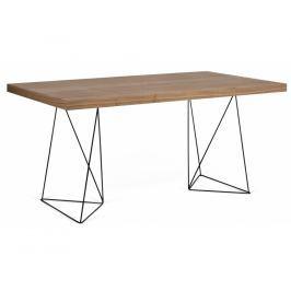 Kancelářský stůl Antonio 180 cm, černá/ořech 9500.613814 Porto Deco