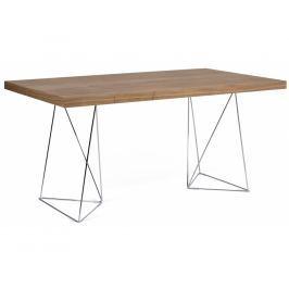 Kancelářský stůl Antonio 180 cm, chrom/ořech 9500.611360 Porto Deco