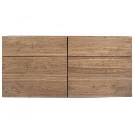 Designová komoda Carmo 180 cm, 6 zásuvek, ořech 9500.758515 Porto Deco