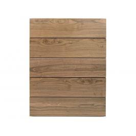 Designová komoda Carmo 113 cm, 5 zásuvek, ořech 9500.758560 Porto Deco