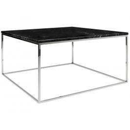 Konferenční stolek Amaro III, podnož chrom, černý mramor 9500.626210 Porto Deco