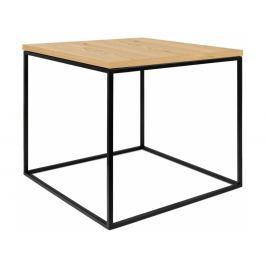 Odkládací stolek Amaro II, černá podnož, dub 9500.626562 Porto Deco