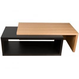 Designový konferenční stolek Mirari, dub, černá 9000.625695 Porto Deco