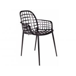 Židle ZUIVER ALBERT KUIP GARDEN, stohovatelná, černá 1200170 Zuiver