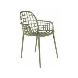 Židle ZUIVER ALBERT KUIP GARDEN, stohovatelná, zelená 1200172 Zuiver