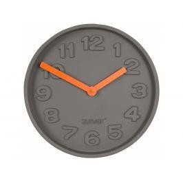 Nástěnné hodiny ZUIVER CONCRETE TIME, šedá/oranžová 8500027 Zuiver