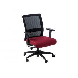 Kancelářská židle Milneo, látka, černá/červená 111766 CULTY