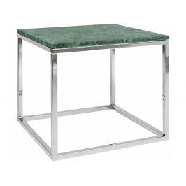 Odkládací stolek Xanti, chromovaná podnož, mramor, zelená 9500.626715 Porto Deco