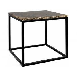 Odkládací stolek Xanti, černá podnož, mramor, hnědá 9500.626258 Porto Deco