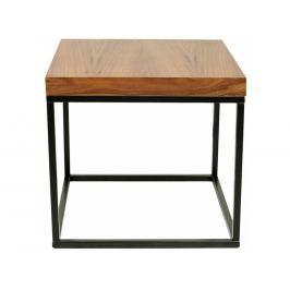 Odkládací stolek Xanti, černá podnož, ořech 9500.620980 Porto Deco