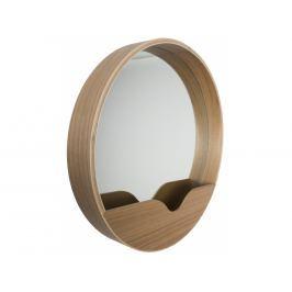 Závěsné zrcadlo ZUIVER ROUND WALL Ø 60 cm, dubová dýha 8100002 Zuiver