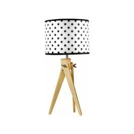 Stolní lampa LF 16, přírodní podnož (Bílo-černá)  LF16_PP Lifelight
