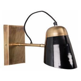 Nástěnné světlo DUTCHBONE OLD SCHOOL Ø 14 cm, mosaz/černá 5400003 Dutchbone