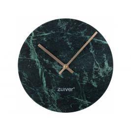 Nástěnné hodiny ZUIVER MARBLE TIME Ø 25 cm, mramor, zelená 8500034 Zuiver